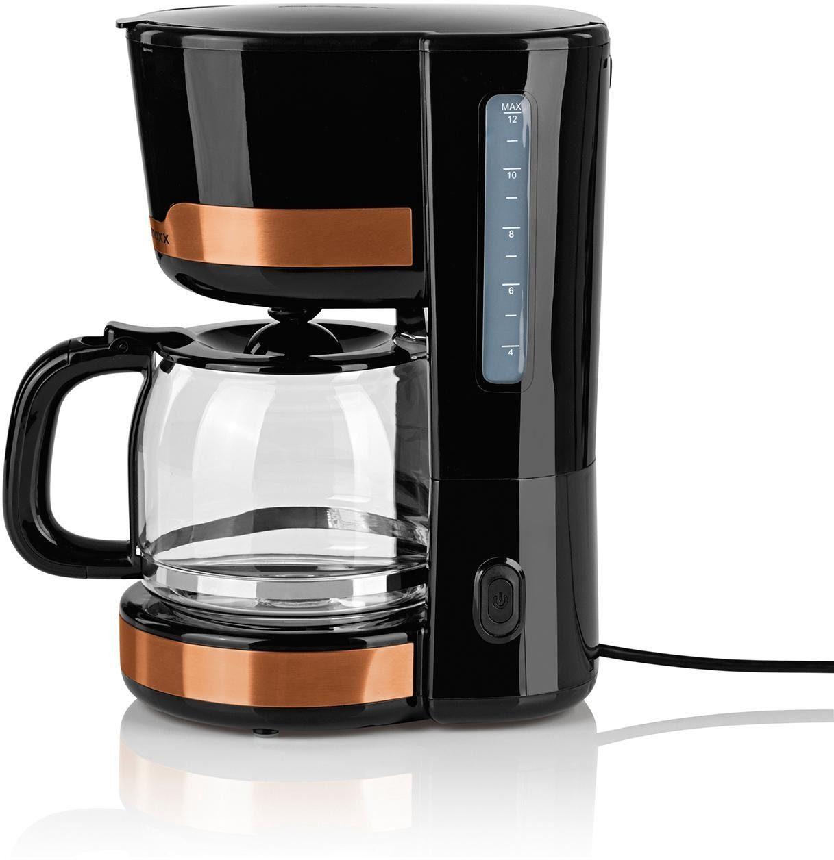 GOURMETmaxx Siebträger-/Filterkaffeemaschine 1000 Watt, kupferfarben
