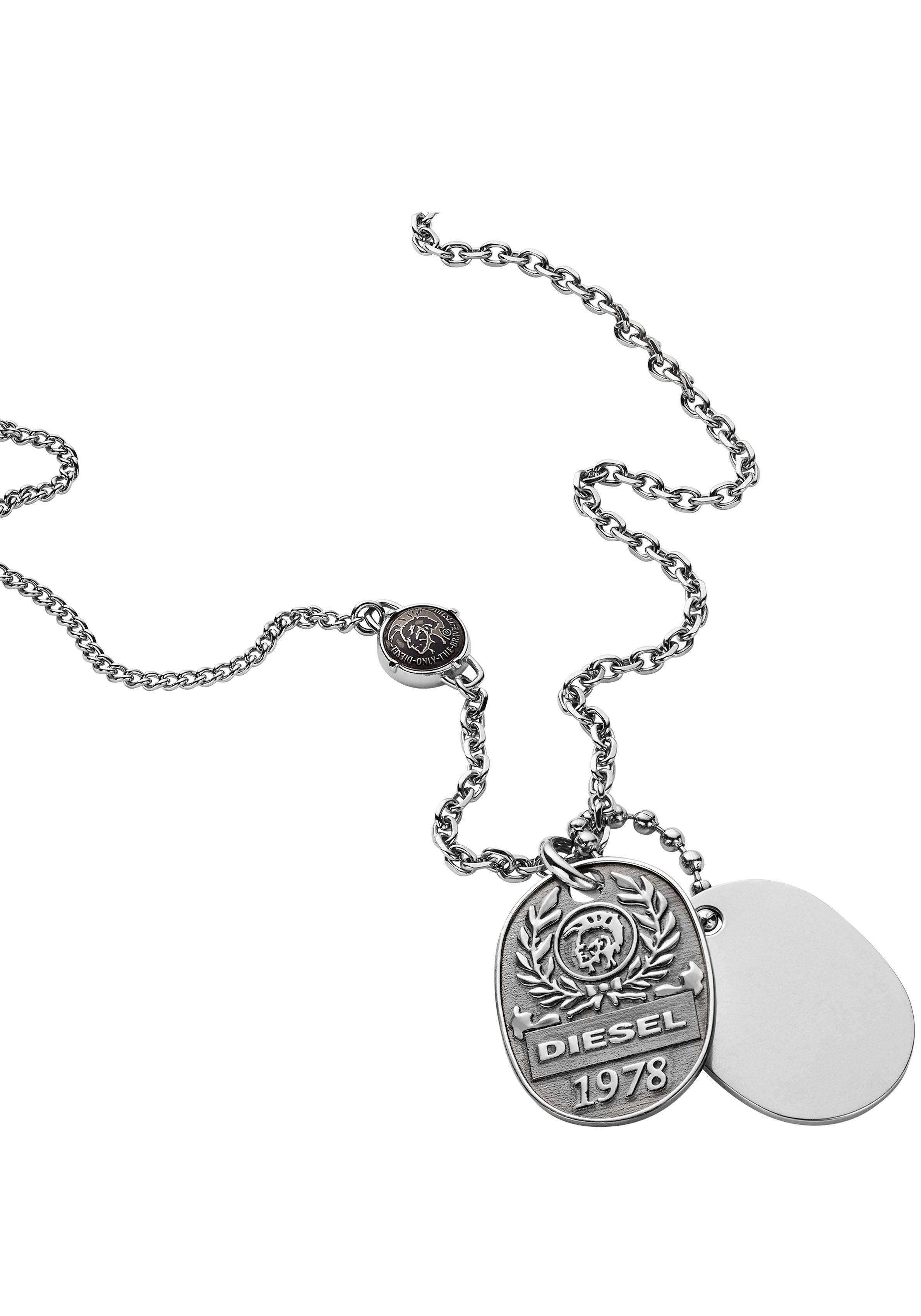 Diesel Kette mit Anhänger »DOUBLE DOGTAGS, DX1106040«