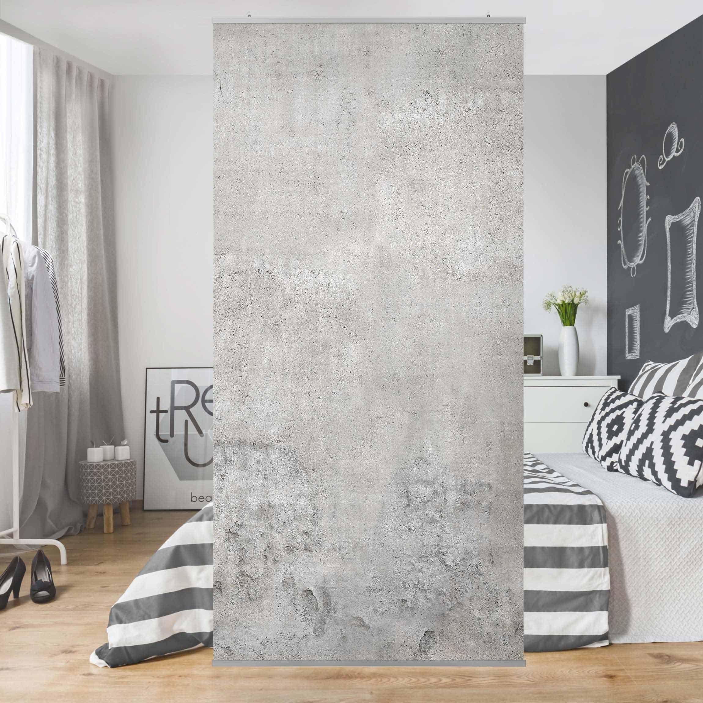 Bilderwelten Raumteiler - Vorhang »Top Steinoptik Raumtrenner« | Wohnzimmer > Regale > Raumteiler | Polyester - Stoff - Textil - Aluminium | Bilderwelten