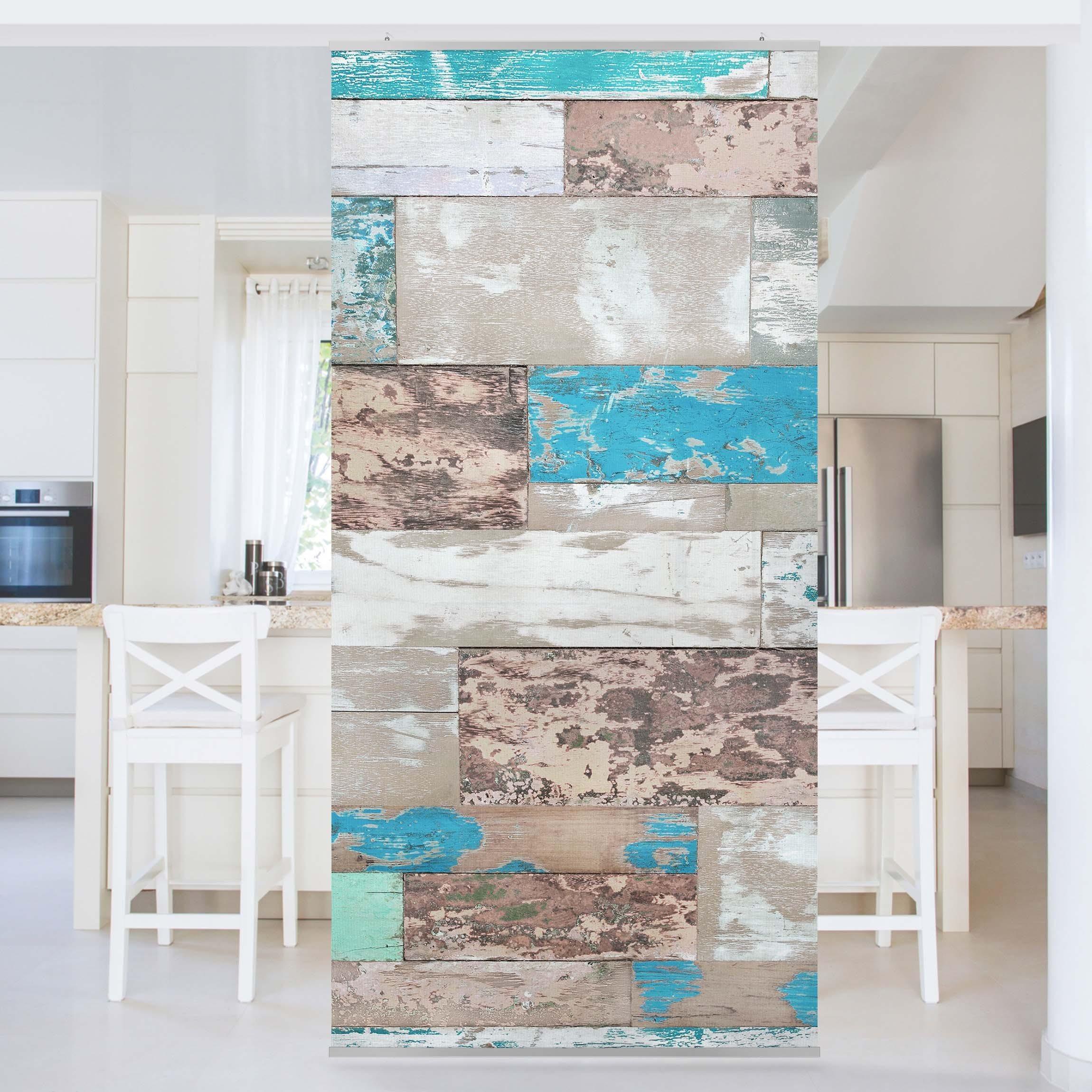 Bilderwelten Raumteiler - Vorhang »Top Maritim Raumtrenner« | Wohnzimmer > Regale > Raumteiler | Polyester - Stoff - Textil - Aluminium | Bilderwelten