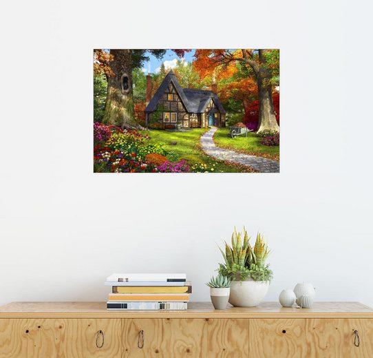 Posterlounge Wandbild - Dominic Davison »Das kleine Herbsthäuschen«