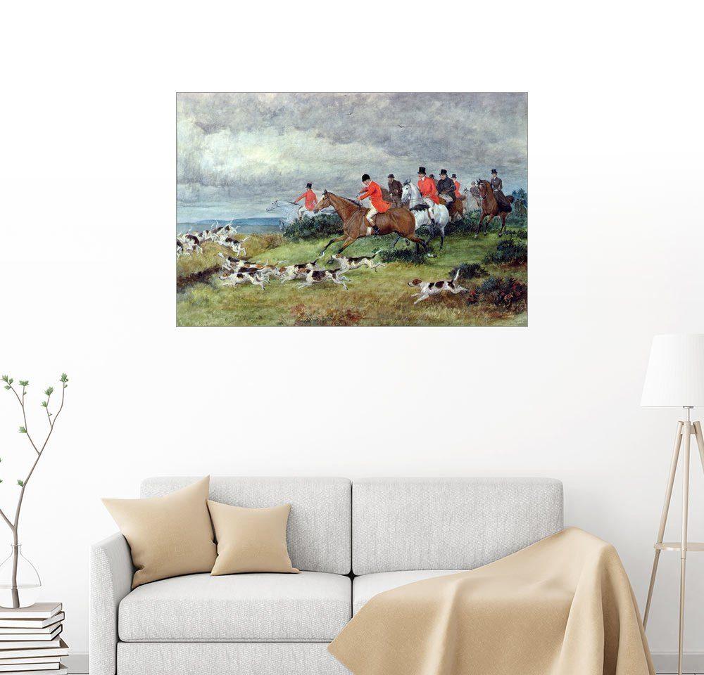 Posterlounge Wandbild - Randolph Caldecott »Fuchsjagd in Surrey«