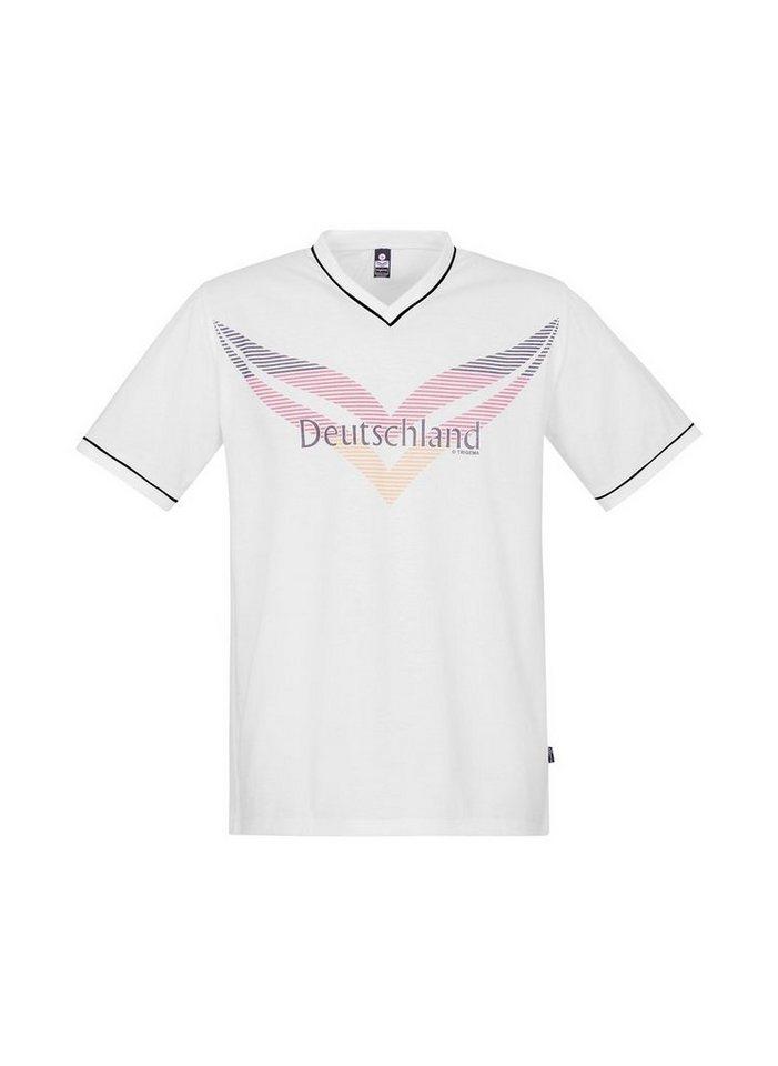 Trigema Fanshirt in Deutschlandfarben | Sportbekleidung > Sportshirts > Fanshirts | Weiß | Trigema