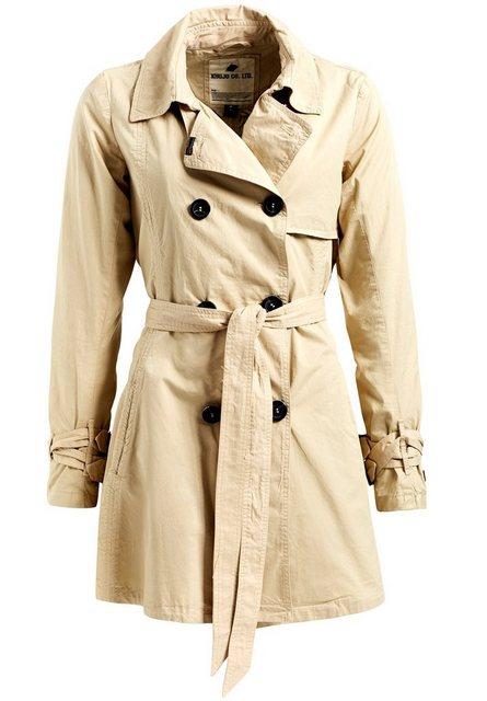 khujo -  Trenchcoat »MERITA« mit ausgestelltem Schnitt