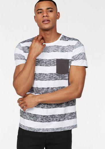 John Devin T-Shirt mit Inside out Print