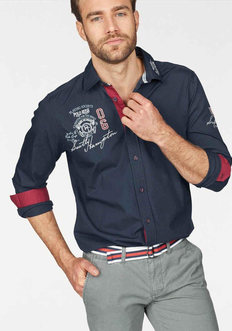 TOM TAILOR Polo Team Langarmhemd mit Stickerei