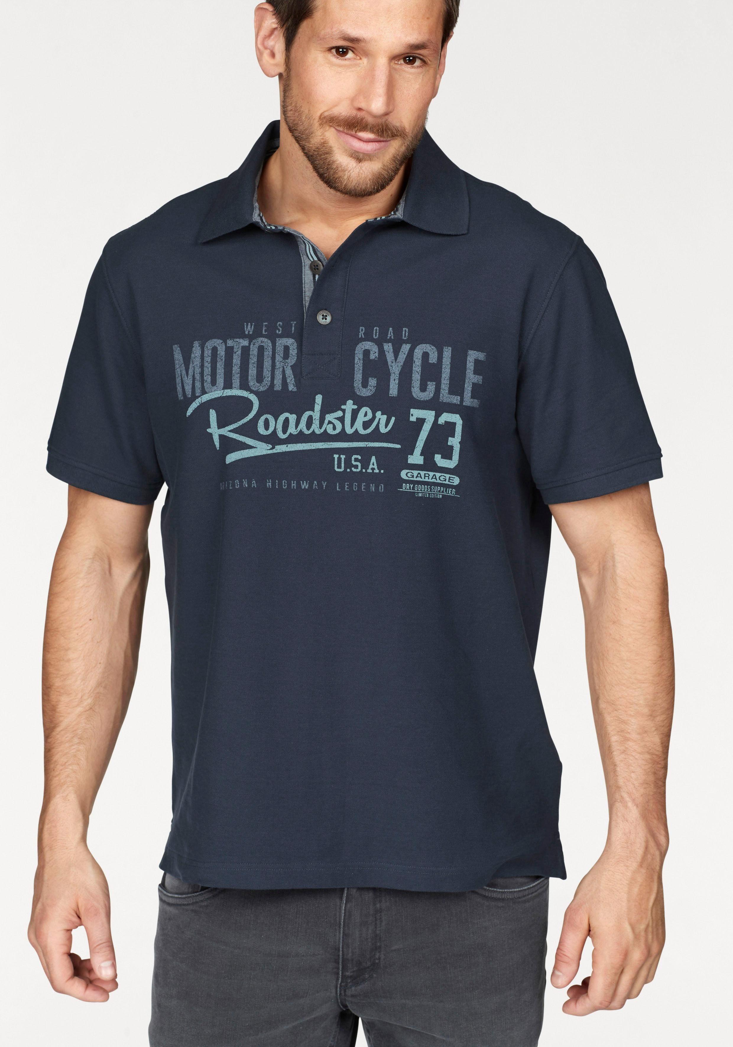 Arizona Poloshirt Piqué-Qualität mit Print