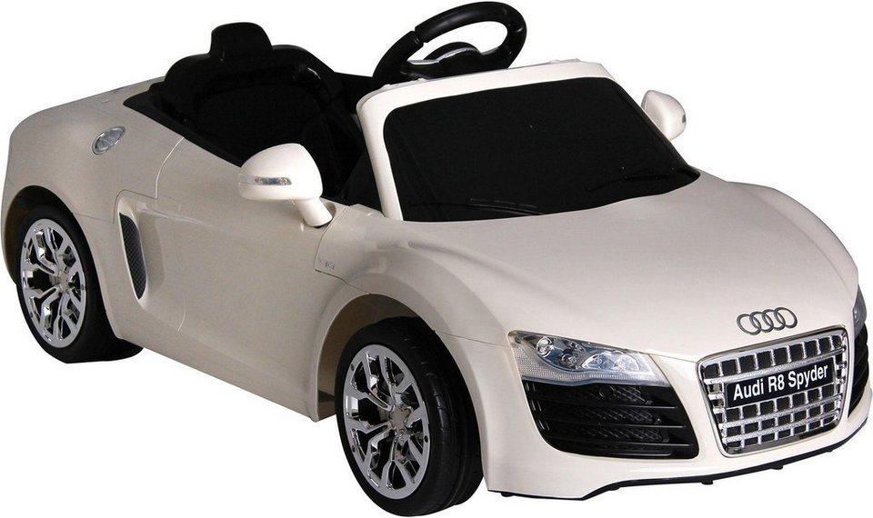 carromco elektrofahrzeug f r kinder audi r8 mit mp3. Black Bedroom Furniture Sets. Home Design Ideas