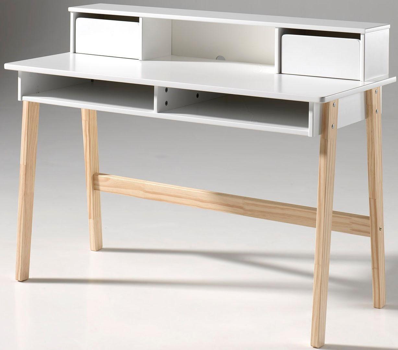 Vipack Schreibtisch »Kiddy« mit Aufsatz, MDF-Oberfläche | Büro > Bürotische > Schreibtische | Farbig | Massiver - Kiefer | Vipack