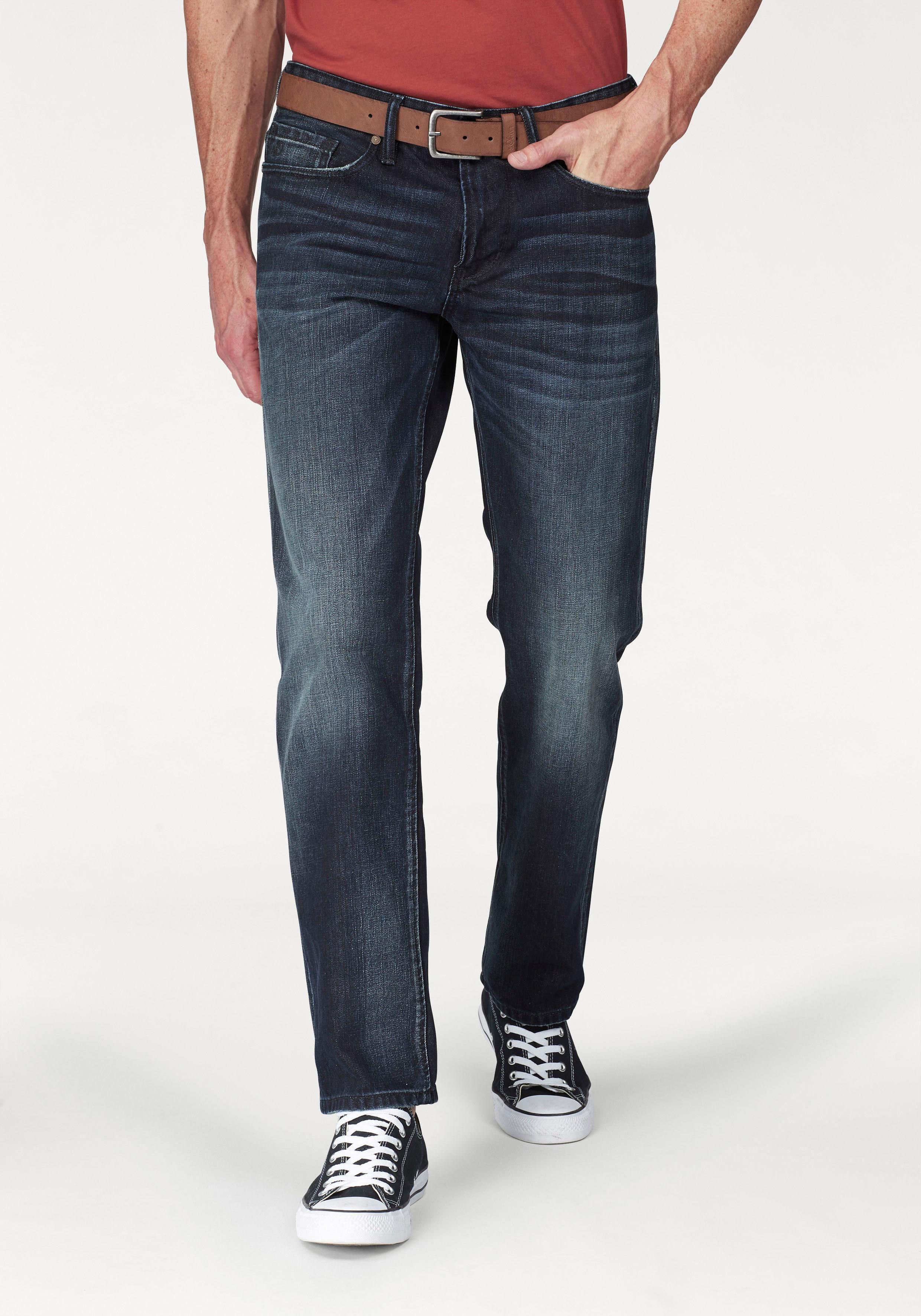 s.Oliver 5 Pocket Jeans (Set, mit Gürtel)