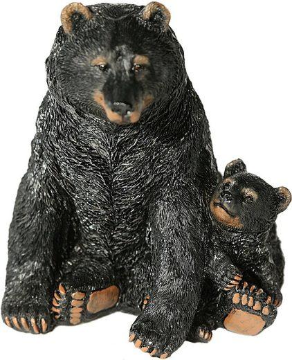 Home affaire Tierfigur »Schwarzbär mit Jungen«