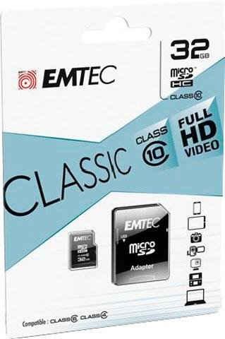 EMTEC »microSDClass10 Classic« Speicherkarte (32 GB, Class 10, 30 MB/s Lesegeschwindigkeit)