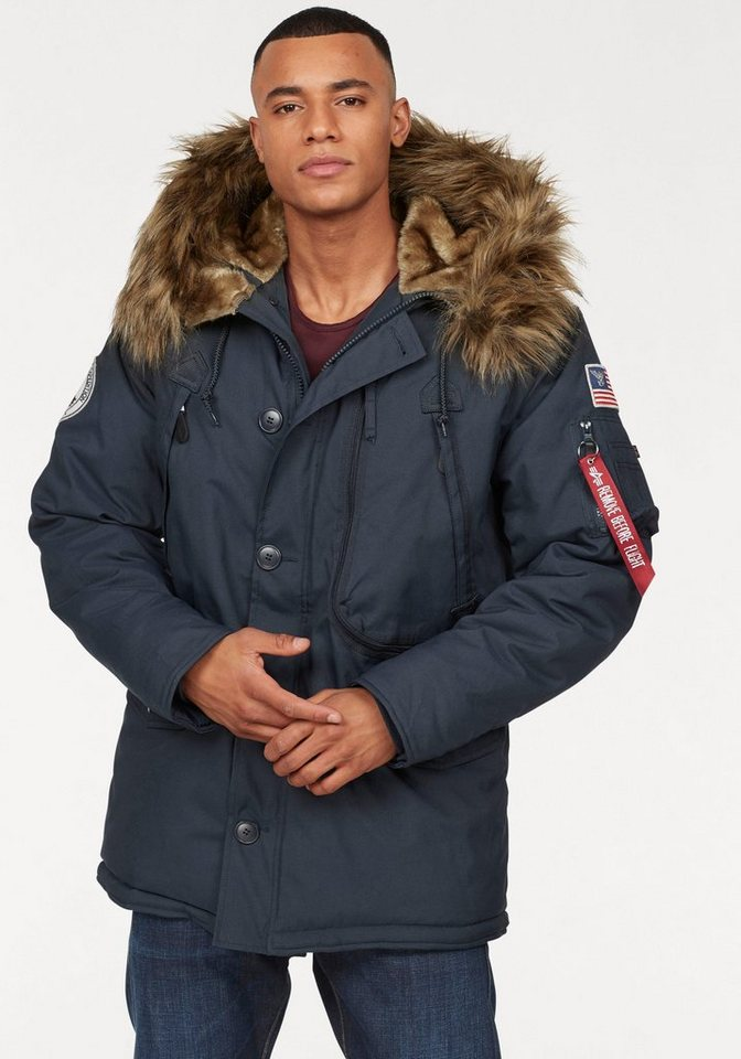 alpha industries parka polar jacket kaufen otto. Black Bedroom Furniture Sets. Home Design Ideas