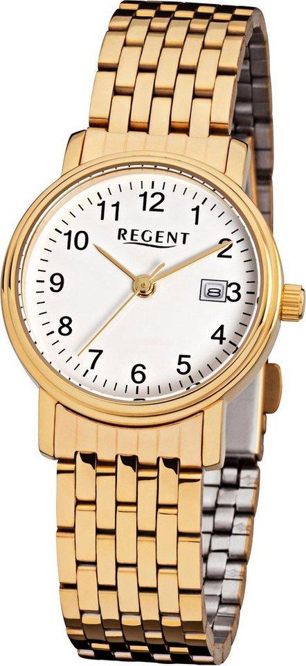 Regent Quarzuhr »12210874« | Uhren > Quarzuhren | Goldfarben | Regent