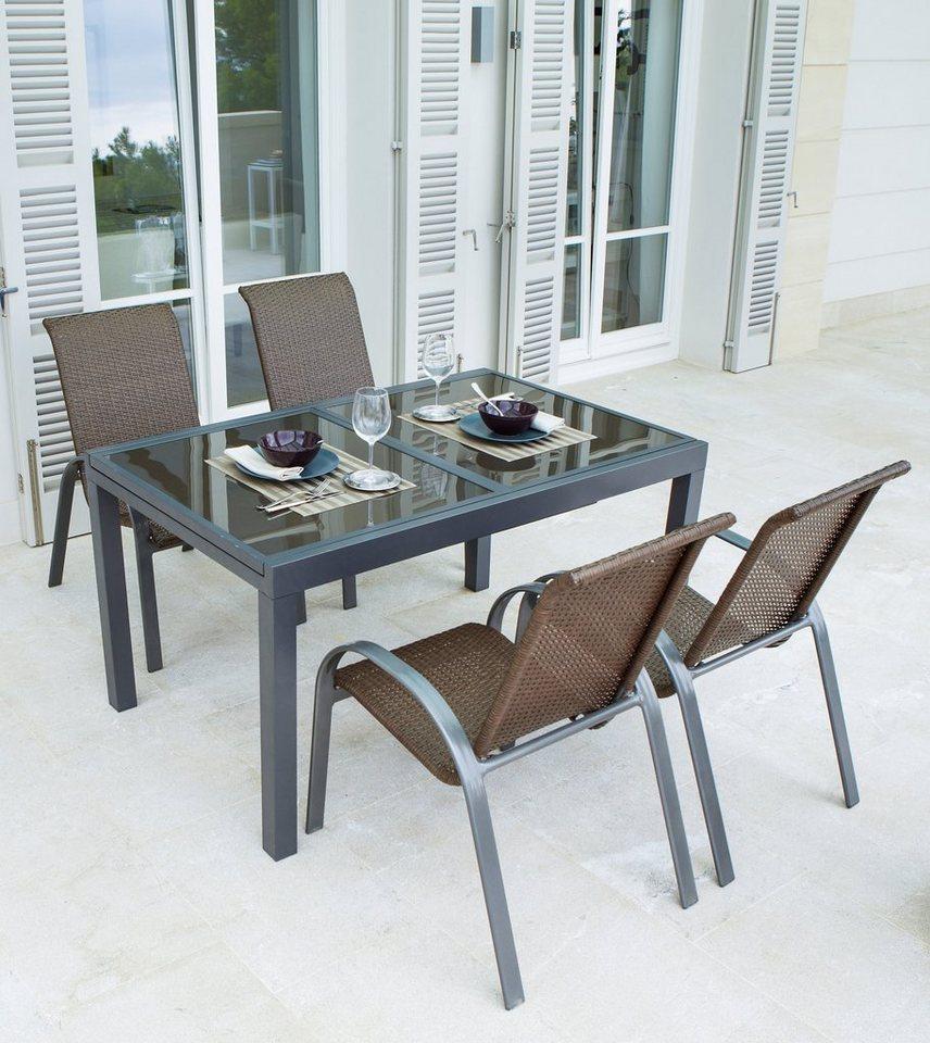 Gartenmöbelset »Côte d´Azur«, 5-tlg., 4 Sessel, Tisch 180x90x75 cm ...