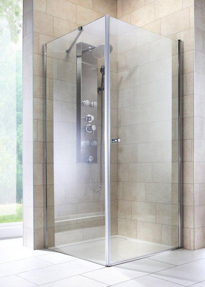 Eckdusche »Florenz«, Duschkabine, Eckeinstieg, 80 x 80 cm, Edles Design in  6 mm ESG online kaufen | OTTO