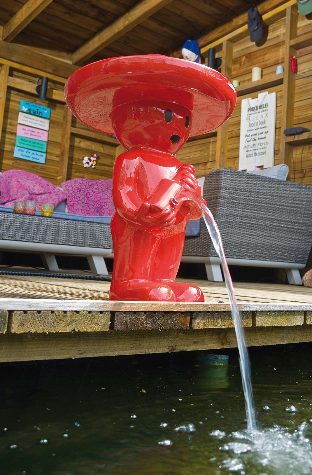 UBBINK Wasserspiel »BOY Mexicano VI«, BxTxH: 32,5x32,5x47 cm, rot
