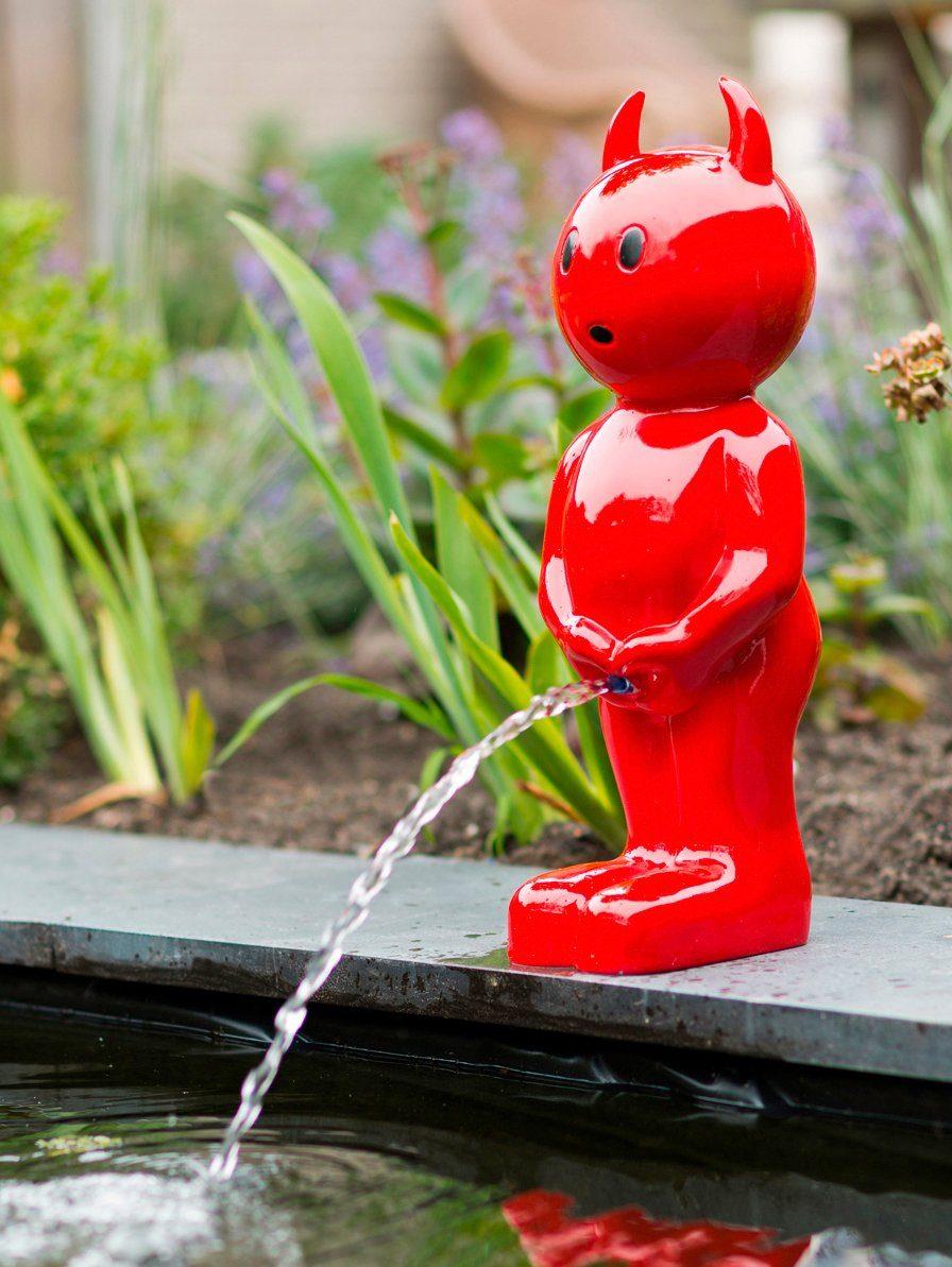 UBBINK Wasserspiel »BOY Teufel«, BxTxH: 23x25x67 cm, rot
