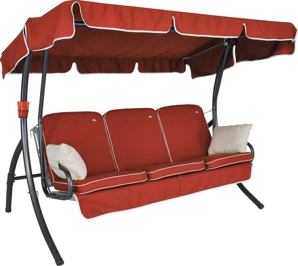 angerer freizeitm bel hollywoodschaukel comfort style 3 sitzer rot online kaufen otto. Black Bedroom Furniture Sets. Home Design Ideas