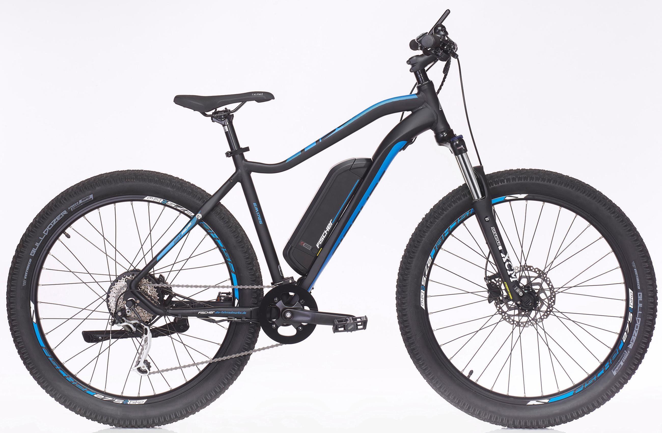 Fischer Fahrräder E-Bike »EM 1725-S2«, 9 Gang Shimano XT Schaltwerk, Heckmotor 250 W,]