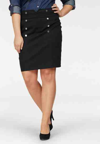 Arizona Jeansrock »Pencil Skirt mit Deko-Druckknöpfen«, High Waist