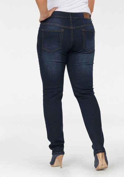 4bcad4c8ede6 Arizona Slim-fit-Jeans »Svenja - Bund mit seitlichem Gummizugeinsatz« High  Waist