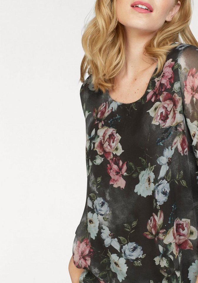 ZABAIONE Chiffonbluse »MELIA« mit floralem Print