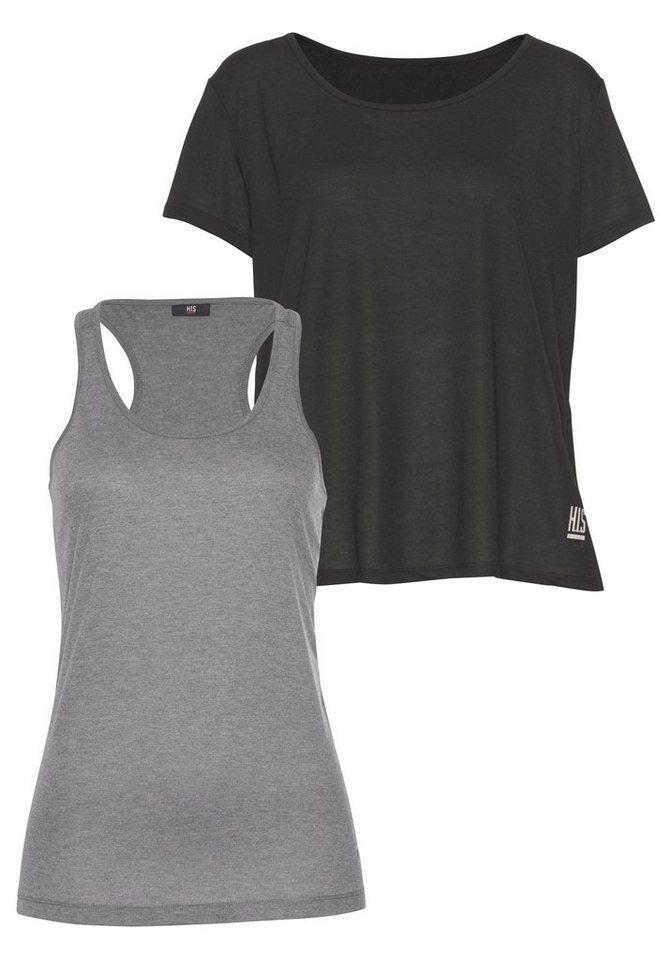 Damen H.I.S Funktionsshirt (Packung 2 tlg) schwarz | 06951710183733
