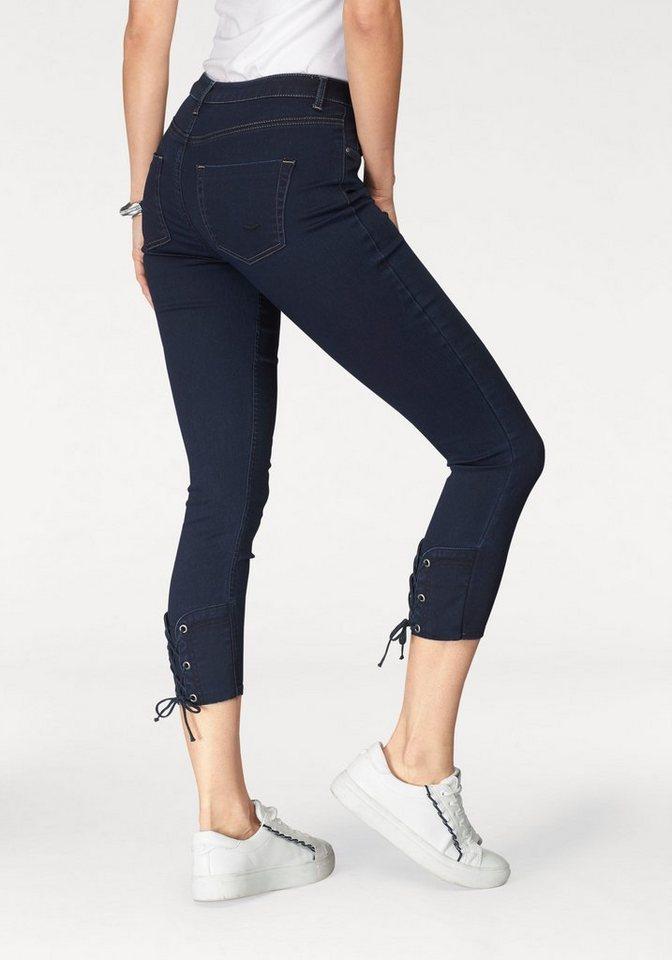 tom tailor polo team 7 8 jeans mit schicker schn rung. Black Bedroom Furniture Sets. Home Design Ideas