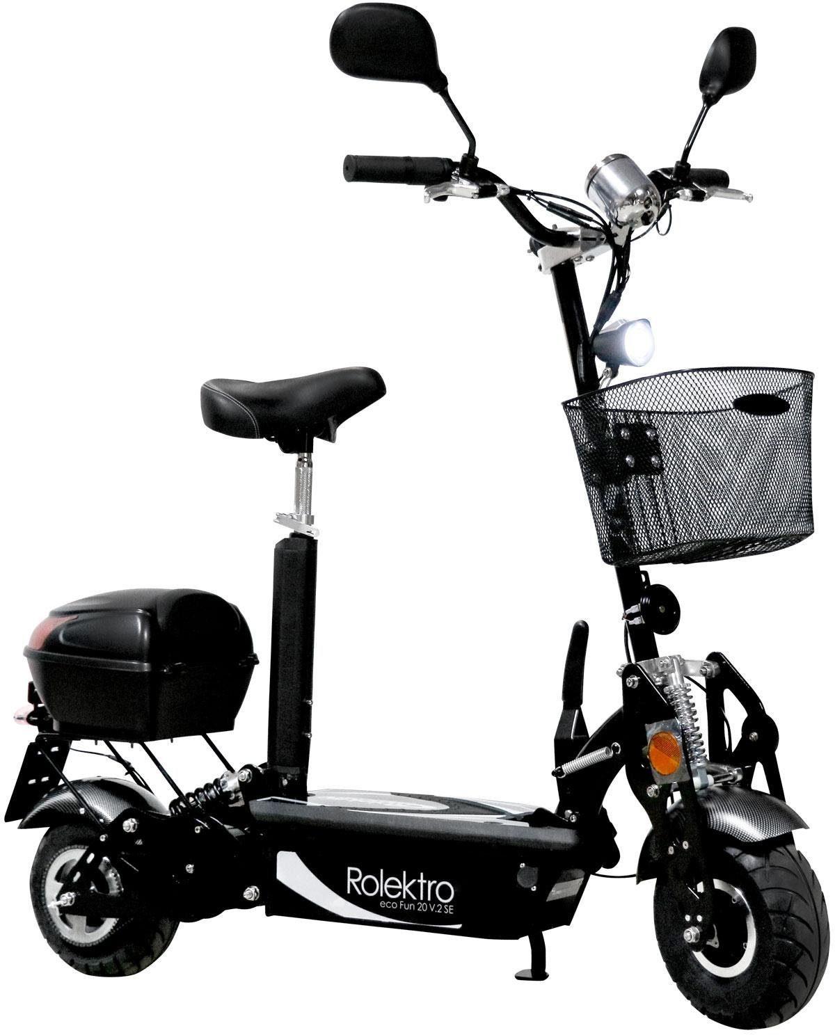 Rolektro E-Scooter »Rolektro eco-Fun 20 V.2 SE Plus, Schwarz«, 500 W, 20 km/h