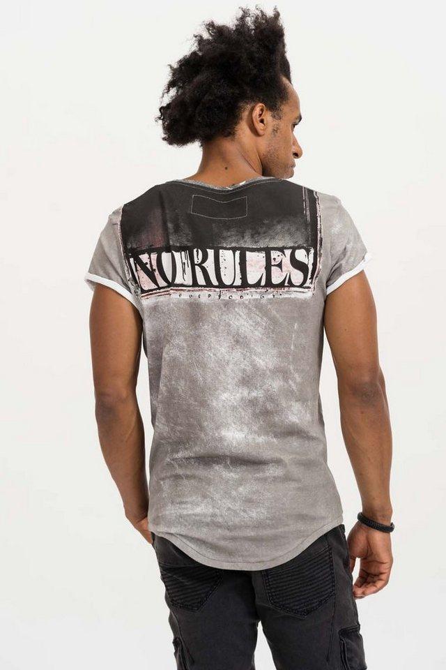 - Herren trueprodigy T-Shirt No Limit, No Fear grau | 04057124035964