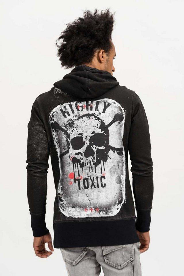 - Herren trueprodigy Kapuzensweatshirt Highly Toxic grün, schwarz | 04057124040975