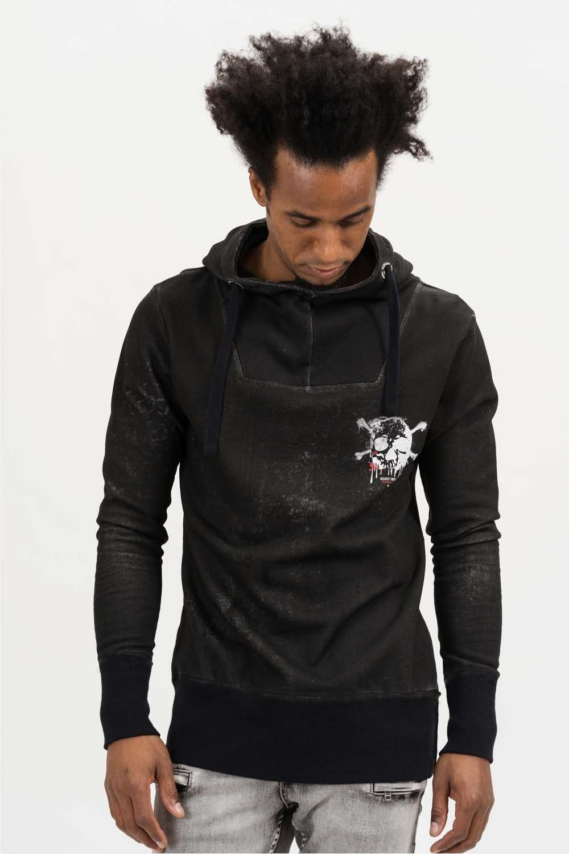 Herren trueprodigy Kapuzensweatshirt Highly Toxic grün, schwarz | 04057124040975