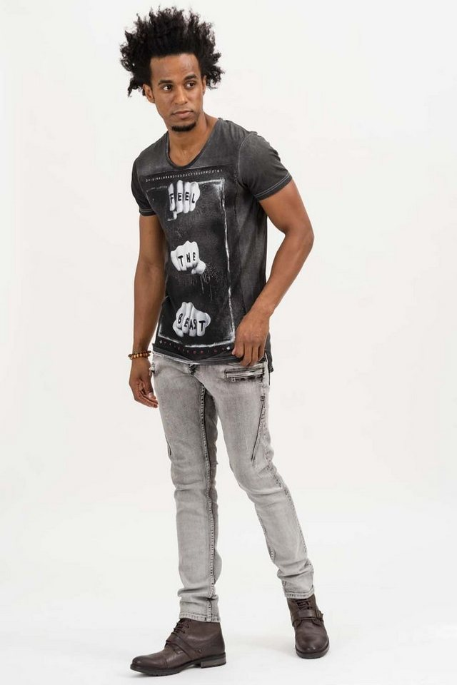 - Herren trueprodigy T-Shirt Feel The Beast Vol. II schwarz | 04057124037791