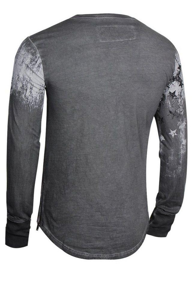 - Herren trueprodigy Langarmshirt Modern Gomorrah Stars Edition grau | 04057124032215