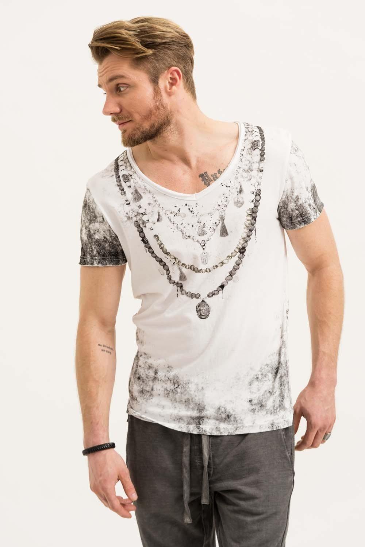 Herren trueprodigy T-Shirt Chain weiß | 04057124035421