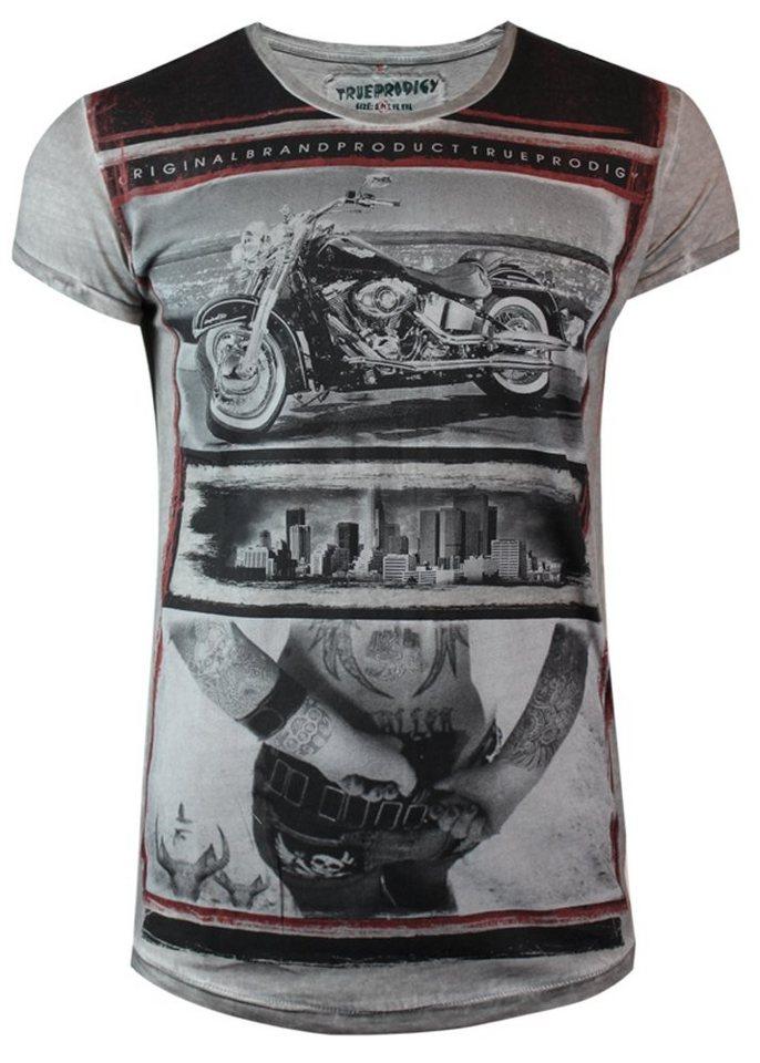 - Herren trueprodigy T-Shirt Bike in NYC grau   04057124019704