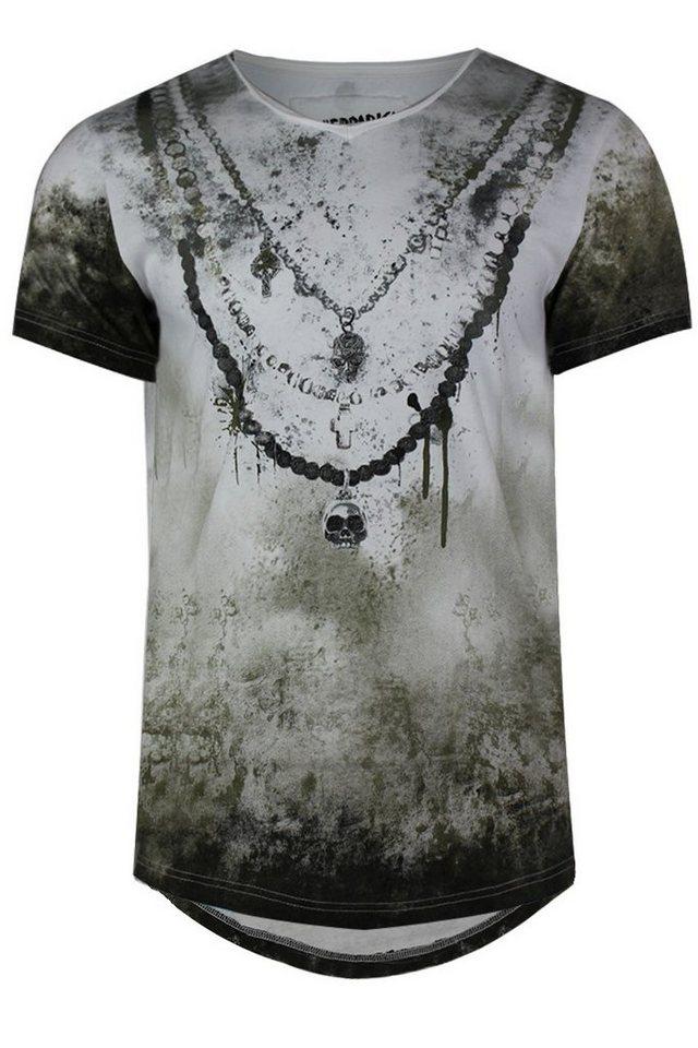 - Herren trueprodigy T-Shirt Chain Vintage grün   04057124036022