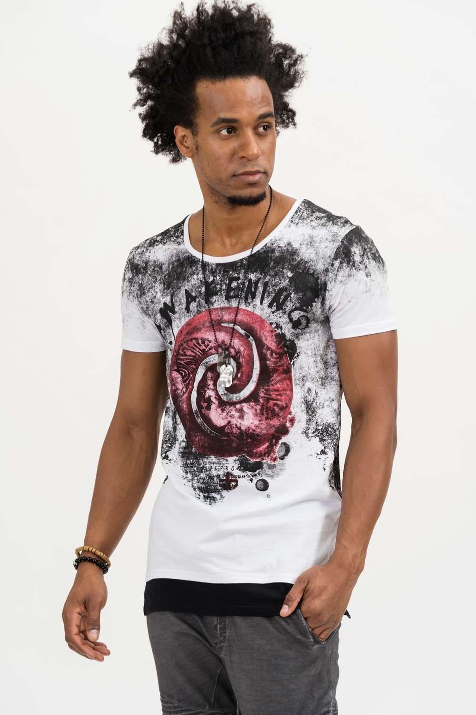 Herren trueprodigy T-Shirt Randomly weiß   04057124039245