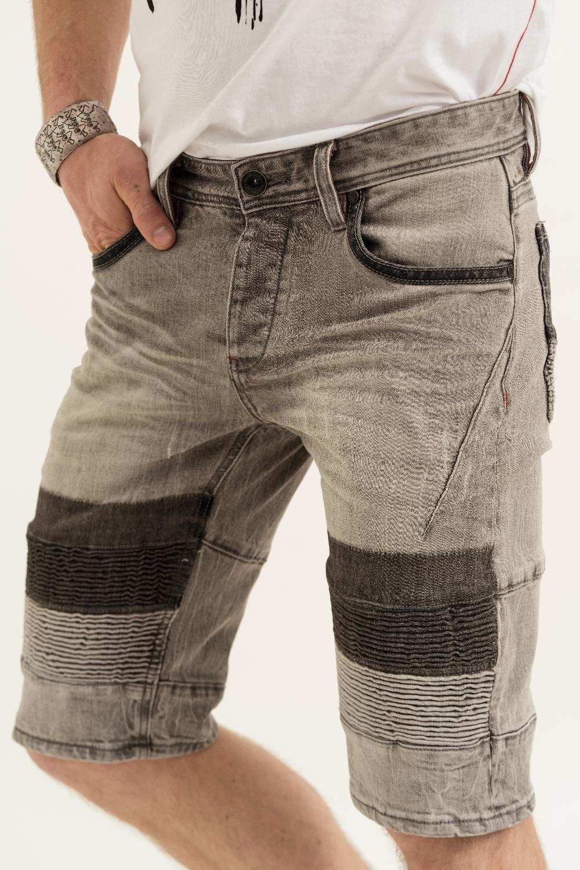 Herren trueprodigy Jeansshorts VEX #703 grau   04057124032765