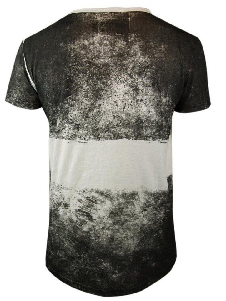 - Herren trueprodigy T-Shirt Maori tattooed man weiß   04057124012446