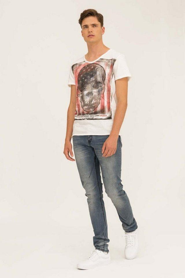 - Herren trueprodigy T-Shirt Skull weiß | 04057124002201