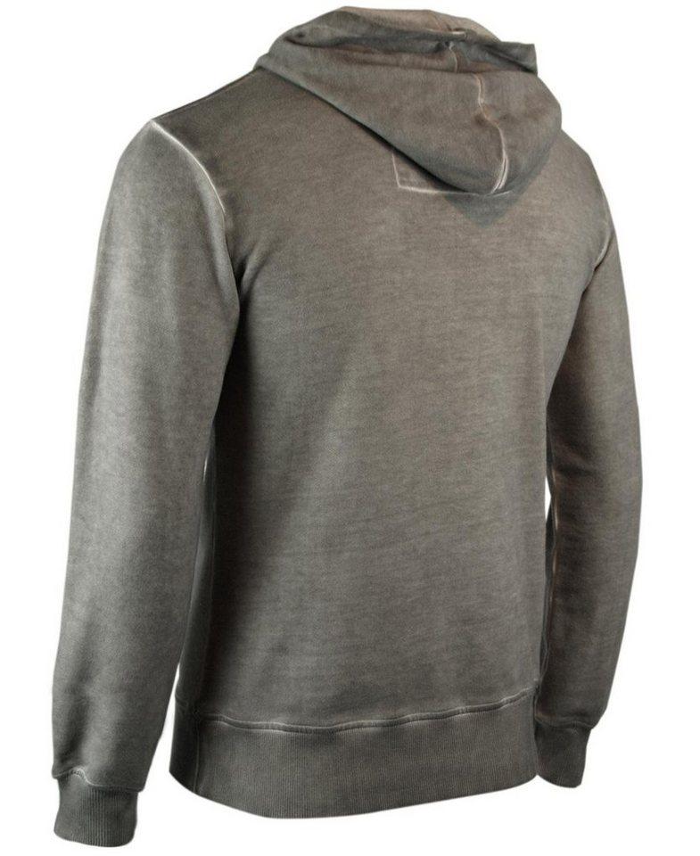- Herren trueprodigy Sweatshirt Union Jack Zip grau   04057124003185