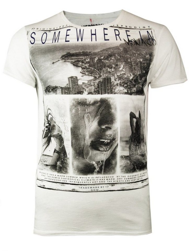 - Herren trueprodigy T-Shirt Somewhere in Monaco grau, weiß | 04057124012392