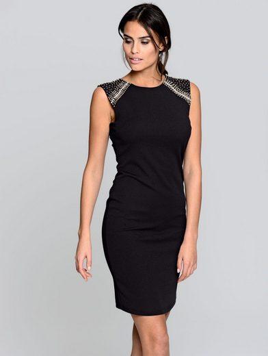Alba Moda Kleid mit Zierperlendekoration im Schulterbereich