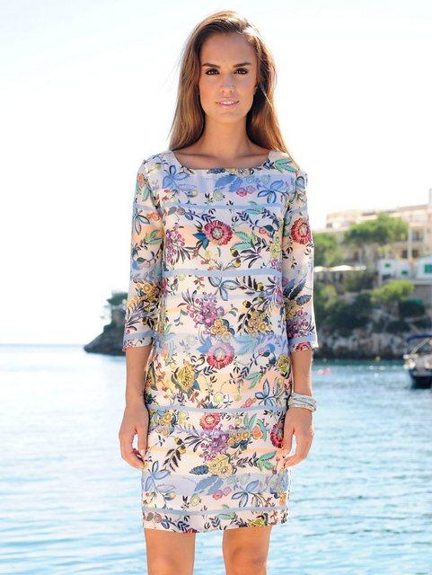 Alba Moda Druckkleid mit Mustermix aus Streifen und Blüten | Bekleidung > Kleider > Druckkleider | Alba Moda