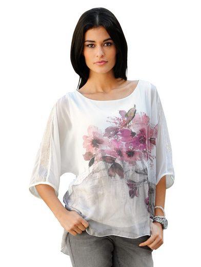Alba Moda Bluse mit exklusivem Blütenmotiv