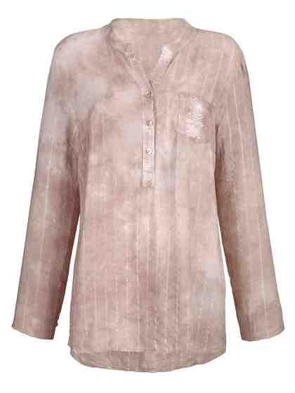 Alba Moda Bluse im Streifendessin und mit Batik-Optik