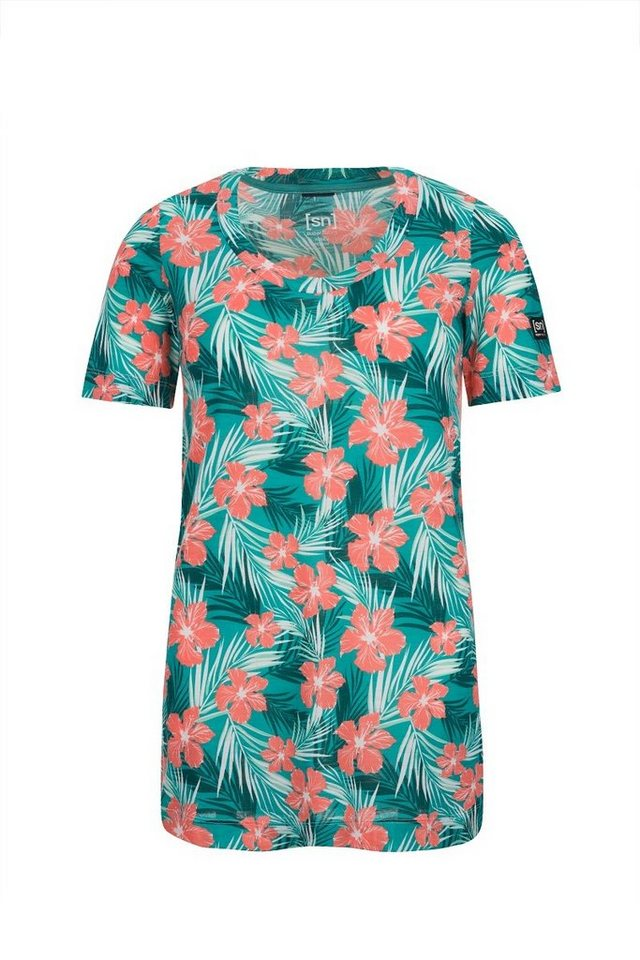 SUPER.NATURAL Oversize-Shirt »W Oversize Tee Digital Printed« | Bekleidung > Shirts > Oversize-Shirts | Orange | Wolle | SUPER.NATURAL