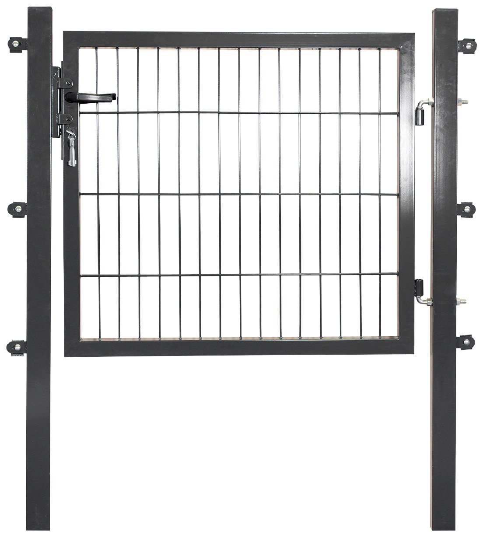 PEDDY SHIELD Zaun-Einzeltür , für Doppelstabmatte anthrazit, in 3 Höhen | Garten > Zäune und Sichtschutz | Stahl | Peddy Shield
